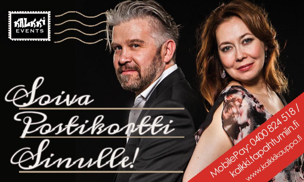 Essi Luttinen ja Petri Haapasalo toteuttavat Soivia postikortteja