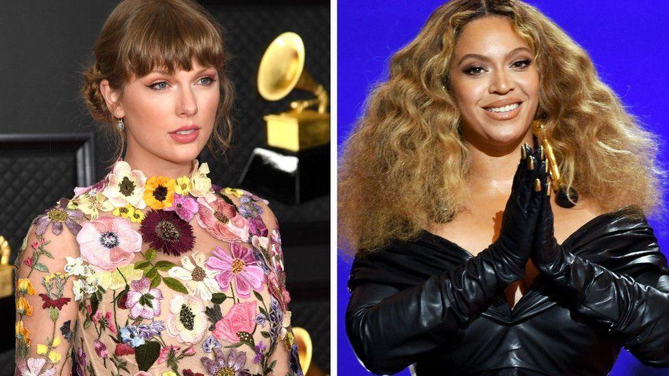 Taylor Swift ja Beyoncé tekivät molemmat historiaa vuoden 2021 Grammy gaalassa.